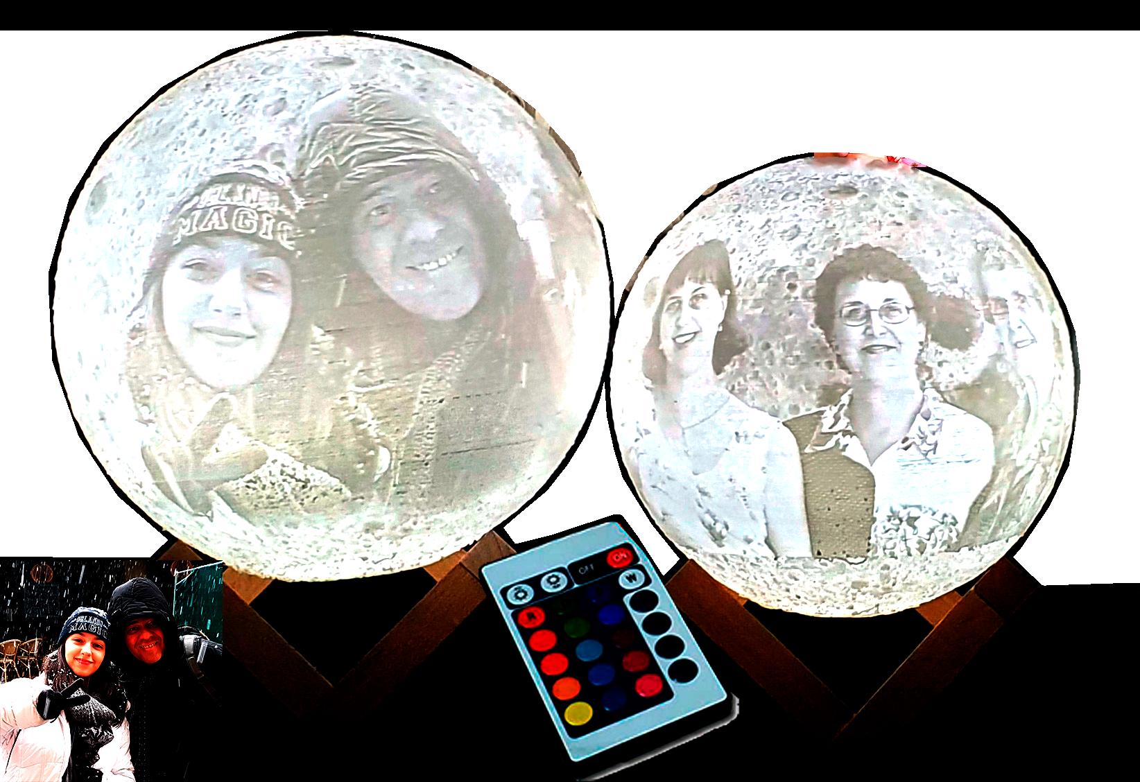 מנורת ירח עם תמונה