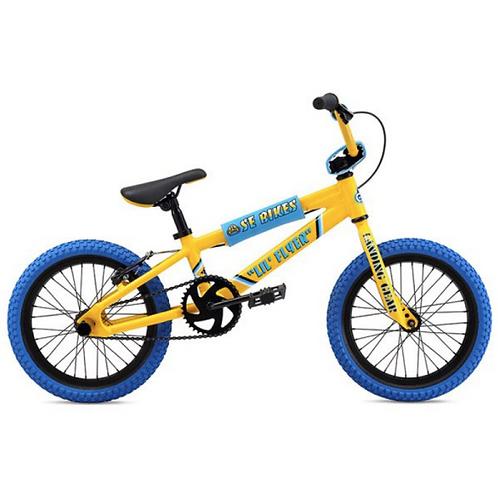 "SE Bikes Lil Flyer 16"" BMX Bike Rad Series Yellow"