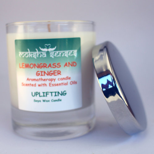 Lemongrass & Ginger Cotton Wick Soya Aromatherapy Candle