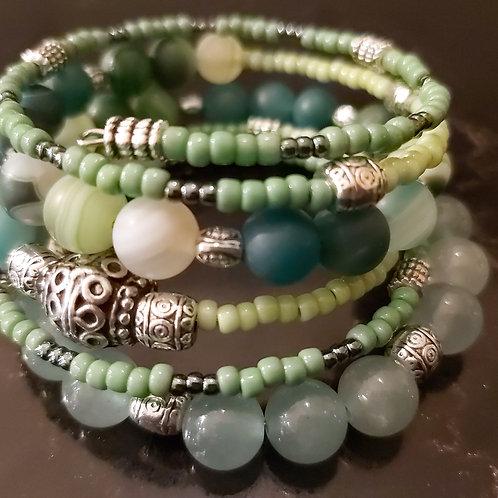 Boho Chic gemstone bracelet