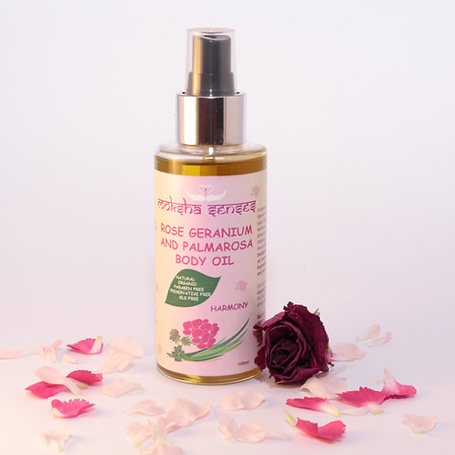 Organic Rose Geranium Palmarosa Body Oil