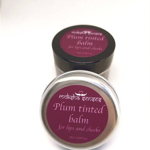 Plum Tinted Lip Balm for lips and cheeks