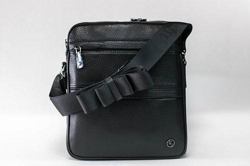 Мъжка чанта от естествена кожа с ципове