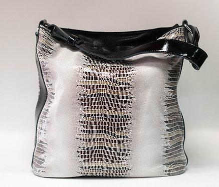 Висока дамска чанта от естествена кожа