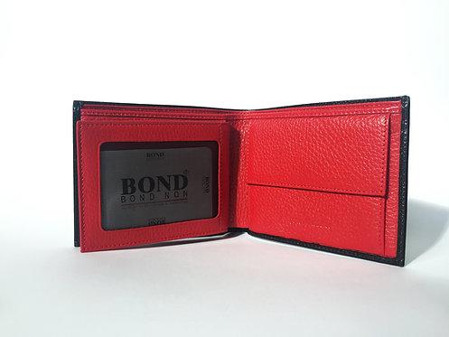 Мъжки портфейл BOND от естествена кожа