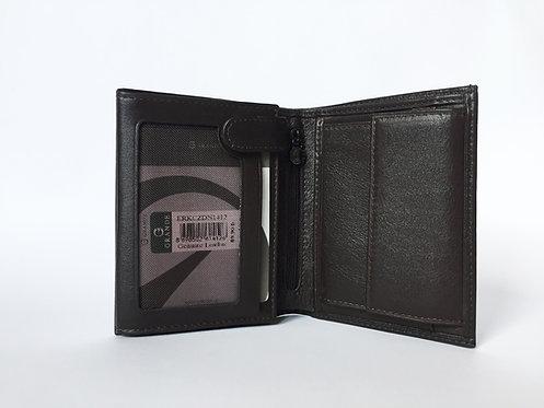 Правоъгълен мъжки портфейл GRANDE от естествена кожа