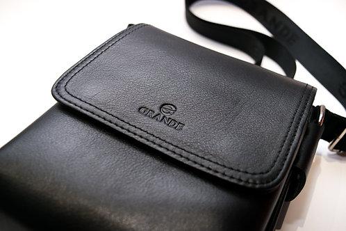 Мъжка чанта през рамо от естествена кожа