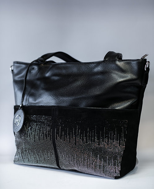 Дамска чанта от изкуствена еко кожа с две къси и една дълга дръжка