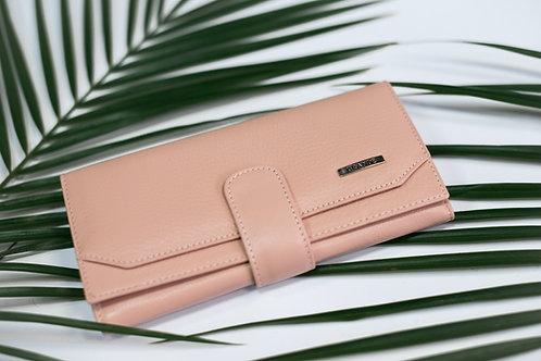 Голямо дамско портмоне с външно закопчаване GRANDE от естествена кожа