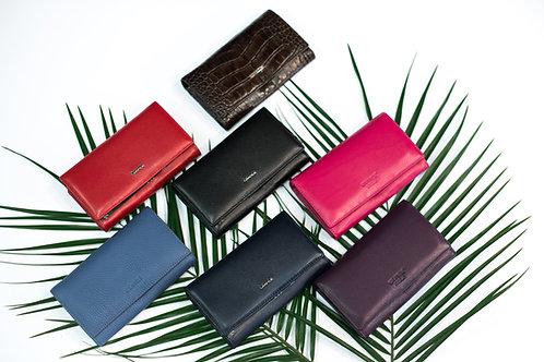 Средно дамско портмоне GRANDE от естествена кожа в 7 цвята