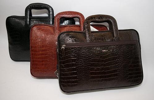 Бизнес чанта от естествена кожа с прибиращи се дръжки