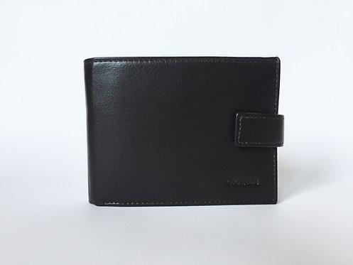 Мъжки портфейл със странично закопчаване GRANDE от естествена кожа