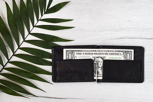 Щипка за банкноти от естествена кожа