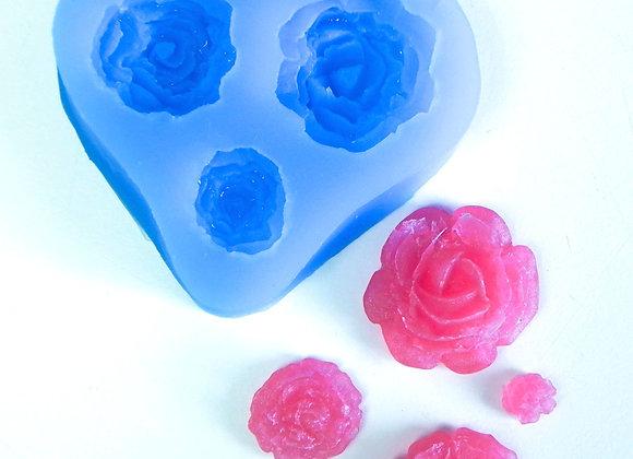Moule à Savon Roses délicates