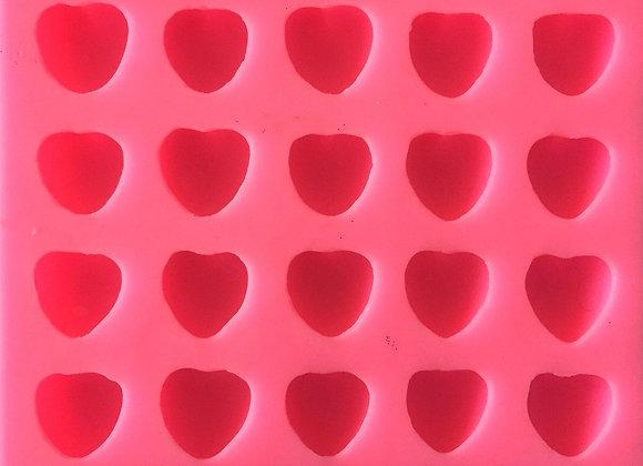 Moule Plaque Cœurs 3D
