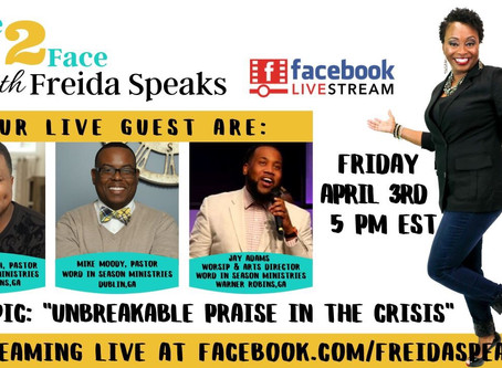Don't Miss Face2Face w Freida Speaks