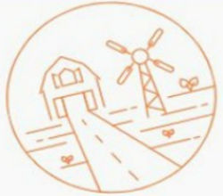 Copeland Kansas Windmill and Farmhouse Illustration