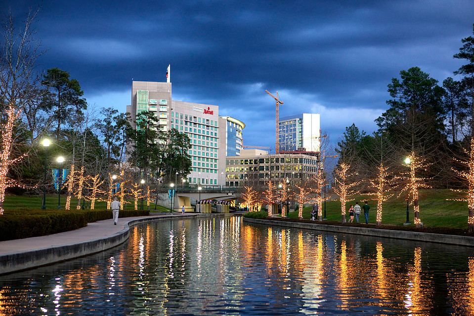 The Woodlands Waterway Canal in the Evening!