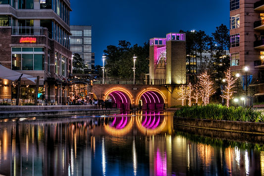 The Woodlands Texas Waterway in North Houston Texas
