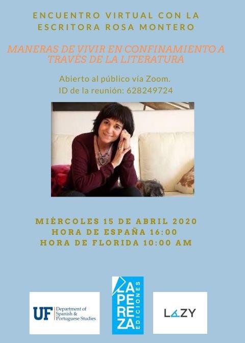 Maneras de vivir con la Escritora Rosa Montero