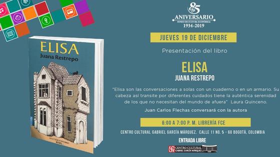 """Presentación de la novela """"Elisa"""" de Juana Restrepo en la librería del Fondo de Cultura Económica en"""