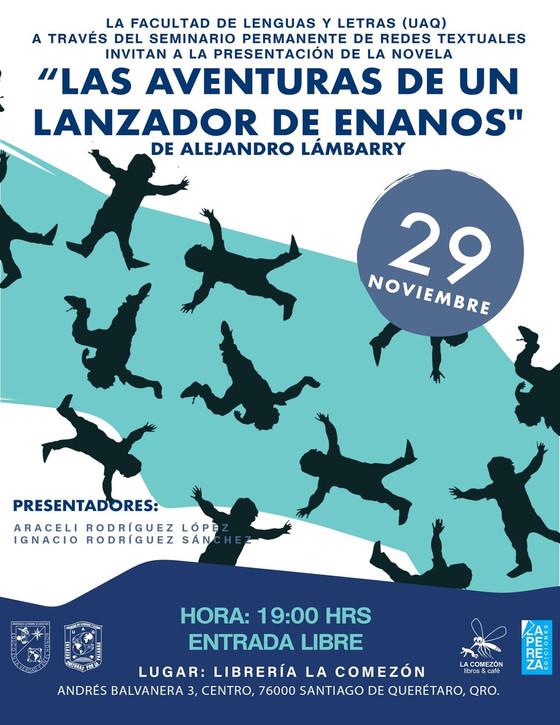 """El 29 de noviembre presentamos en la librería La Comezón de Querétaro """"Las aventuras de un lanzador"""