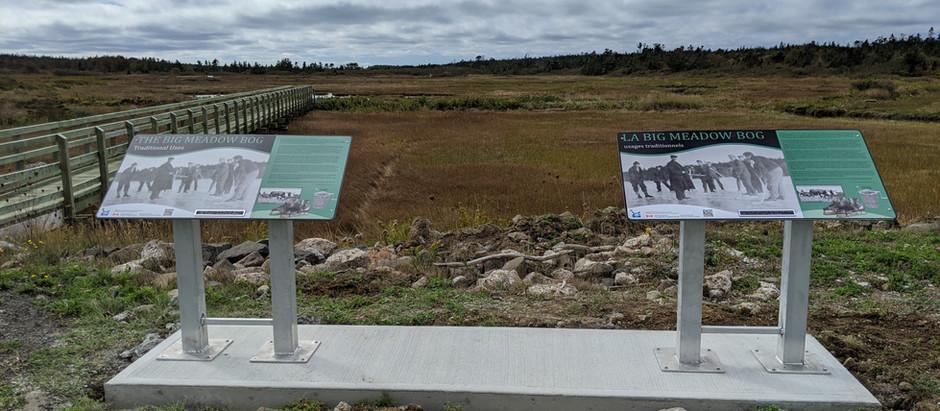 Interpretive Signage at Big Meadow Bog Trail