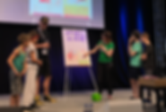 Andi von Telestammtisch und Lisa Rau auf der Comic Con Germany in Stuttgart, 2019