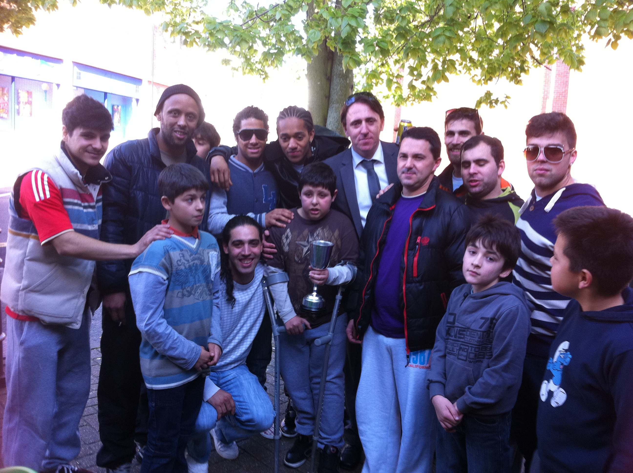 Cup dedication to young Diogo M.