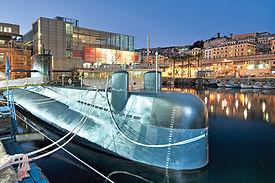 Génova submarino Nazario Sauro - Excursión tour por Génova - Liudmila, guía turística oficial en Italia, excursiones - es.italtour.org