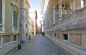 Génova Via Garibaldi - Excursión tour por Génova - Liudmila, guía turística oficial en Italia, excursiones - es.italtour.org