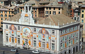 Génova Palacio San Giorgio - Excursión tour por Génova - Liudmila, guía turística oficial en Italia, excursiones - es.italtour.org