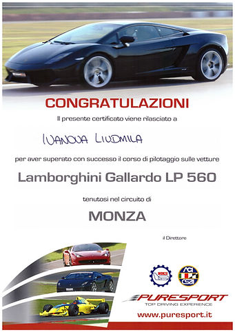 Circuit of Monza - Lamborghini and Ferrari test drive - Liudmila guide in Milan, excursions - en.italtour.org