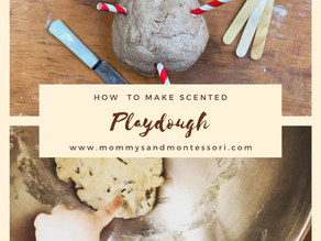 How to make scented playdough.