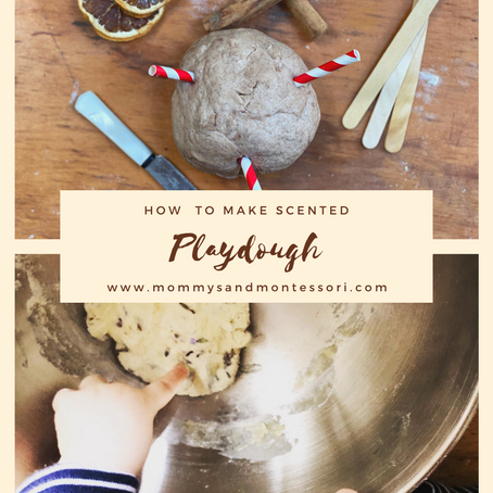 How to make scented playdough.