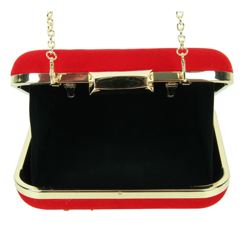 80993464ed This crystal embellished box clutch bag features detachable gold chain and clasp  fastening.