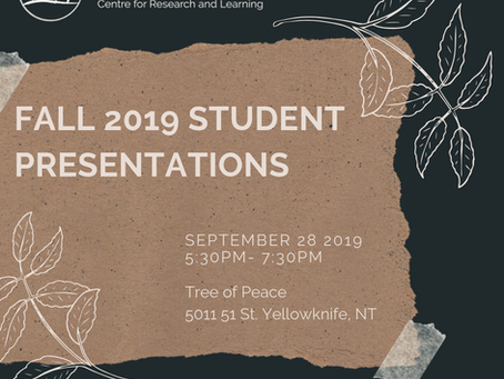 Fall 2019 Student Presentations!