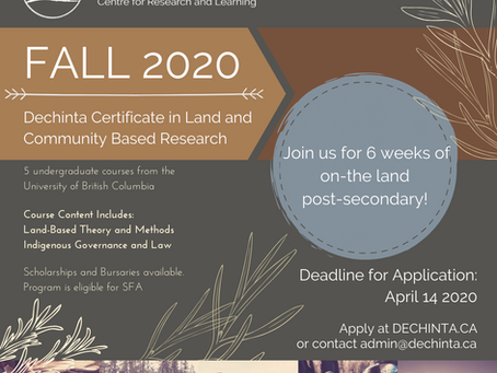 Announcing the Fall 2020 Program
