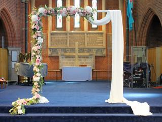 A beautiful church wedding