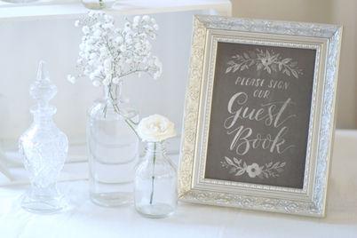 wedding guest book display