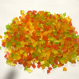 dehydrated papaya dice 3-5 mm mix colors
