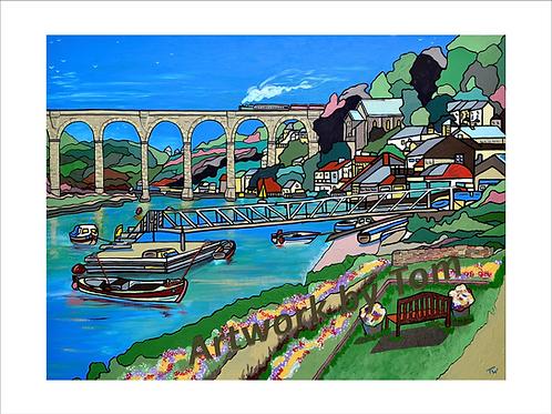 """Calstock Viaduct (10""""x8"""")"""