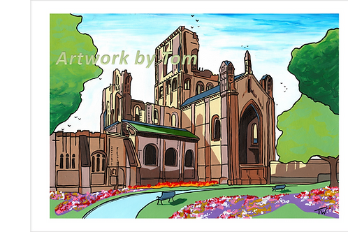 "Kirkstall Abbey (16""x12"")"