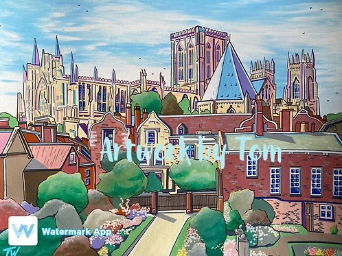 """York Minster from City Walls (20""""x16"""")"""