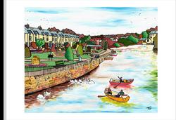 River Wharf from Otley Bridge WM