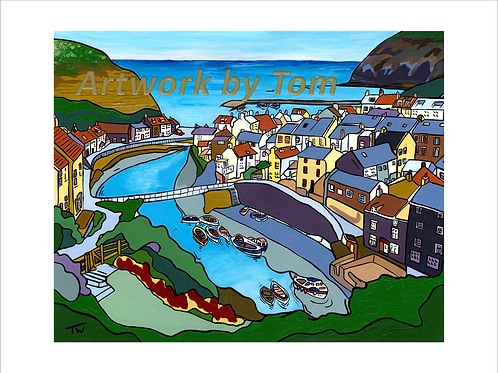"Staithes  (16""x12"")"