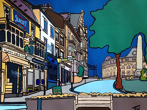 """Cenotaph from Montpellier  (20""""x16"""")"""