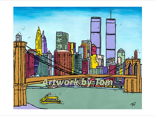 "New York City  (10""x8"")"