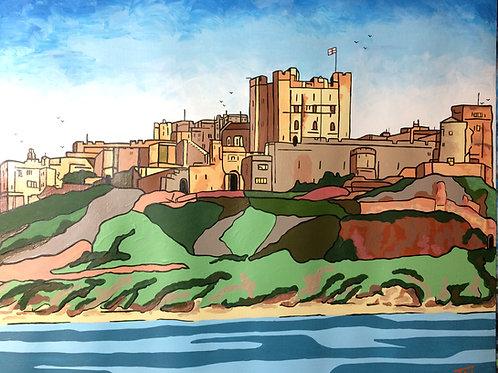 "Bamburgh Castle  (16""x12"")"