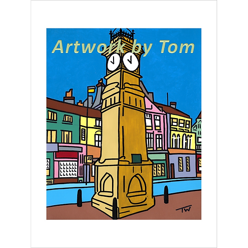 "Jubilee Clock, Otley  (20""x16"")"